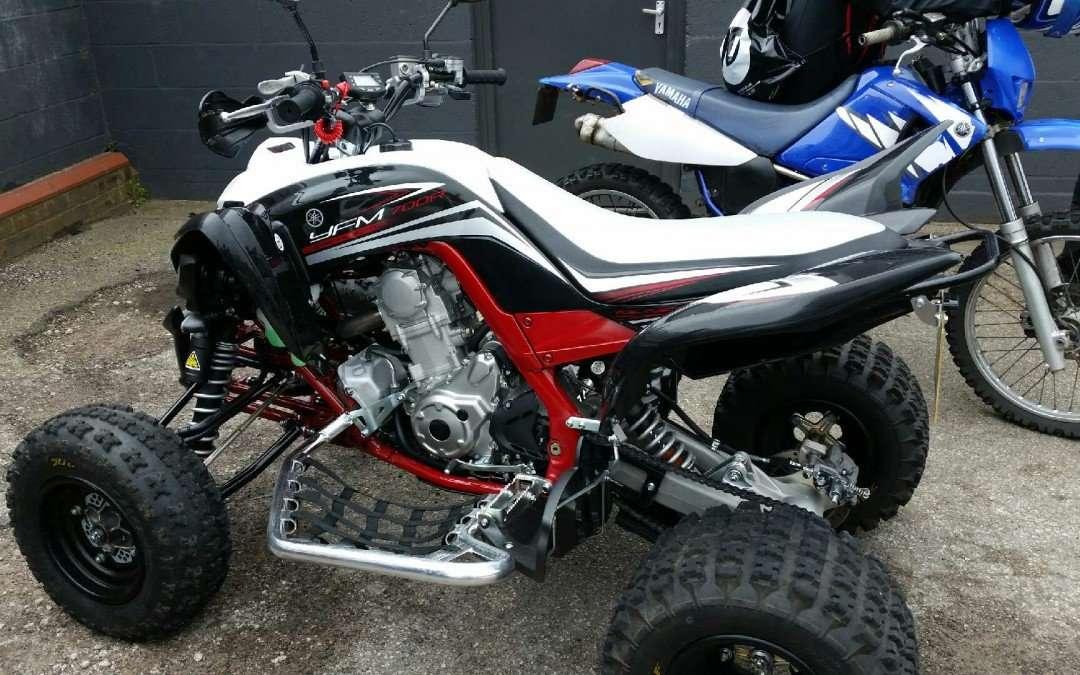 Motocross bikes deep steam cleaned